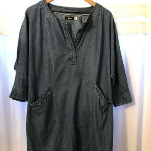 Urban Outfitters Denim Smock Dress